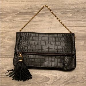 Michael Kors Bags - Micheal Kors Black Leather Clutch.